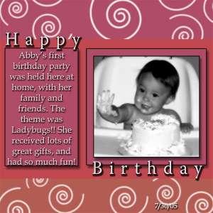Diva's 1st birthday