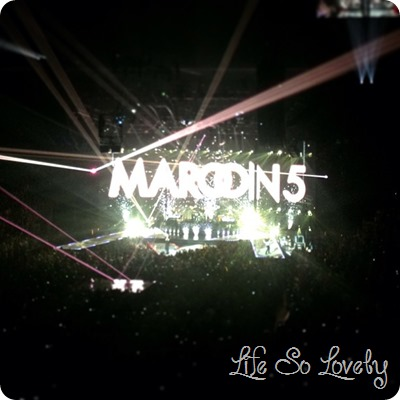 Maroon 5!! I was in the same  building as Adam Levine!